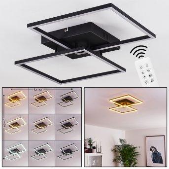 Cheka Deckenleuchte LED Schwarz, 2-flammig, Fernbedienung