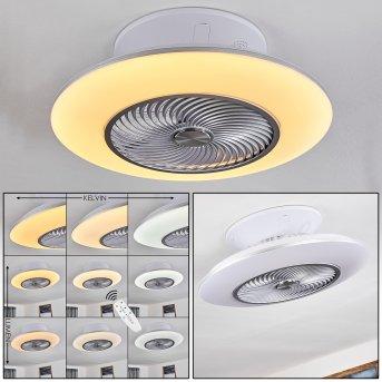 Nagoya Deckenventilator LED Weiß, 1-flammig, Fernbedienung