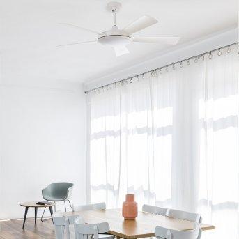 Faro Barcelona Saona Deckenventilator LED Weiß, 1-flammig, Fernbedienung