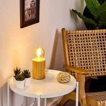 Castellar Tischleuchte Holz hell, 1-flammig