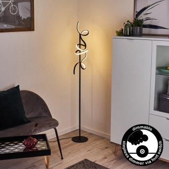 Lavaca Stehleuchte LED Schwarz, 2-flammig