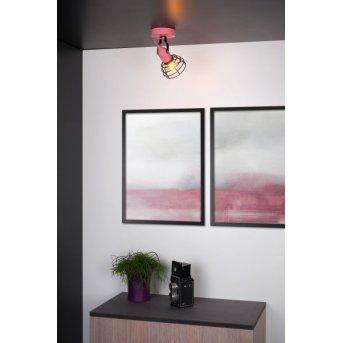 Lucide Pola Deckenleuchte Schwarz, Pink, 1-flammig