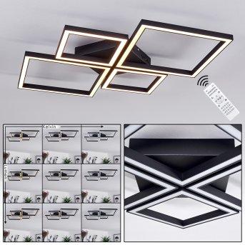 Cavareno Deckenleuchte LED Schwarz, 1-flammig, Fernbedienung