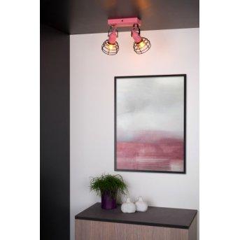 Lucide Pola Deckenleuchte Schwarz, Pink, 2-flammig