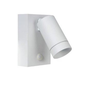 Lucide TAYLOR Außenwandleuchte Weiß, 1-flammig, Bewegungsmelder