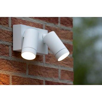 Lucide TAYLOR Außenwandleuchte Weiß, 2-flammig, Bewegungsmelder