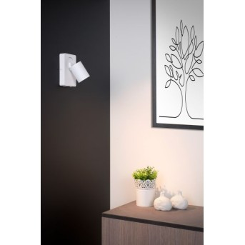 Lucide NIGEL Wandleuchte LED Weiß, 1-flammig