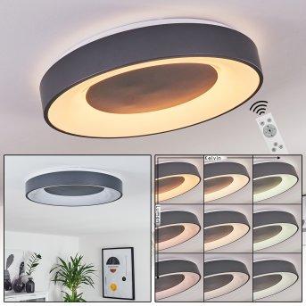 Casina Deckenleuchte LED Anthrazit, Weiß, 1-flammig, Fernbedienung