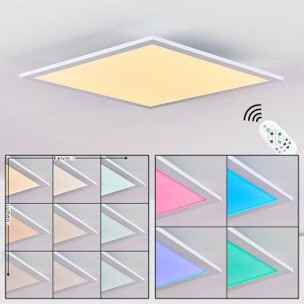 Gallitos Deckenpanel LED Weiß, 1-flammig, Fernbedienung, Farbwechsler