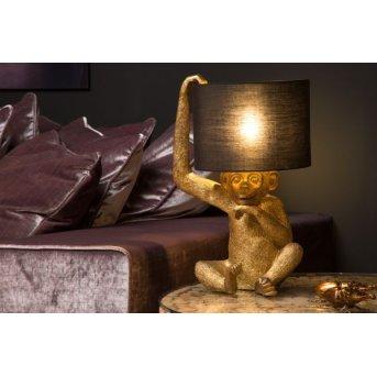 Lucide CHIMP Tischleuchte Gold, 1-flammig
