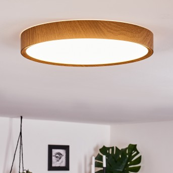 Nexo Deckenleuchte LED Weiß, Holz dunkel, 1-flammig