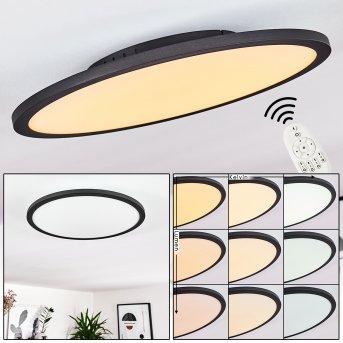 Nexo Deckenpanel LED Schwarz, 1-flammig, Fernbedienung