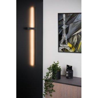 Lucide SEGIN Wandleuchte LED Schwarz, 1-flammig