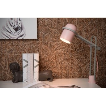Lucide BASTIN Klemmleuchte Grau, Pink, 1-flammig