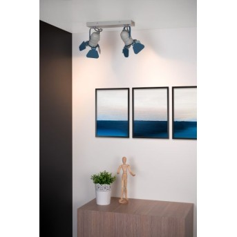 Lucide PICTO Deckenleuchte Blau, Grau, 2-flammig