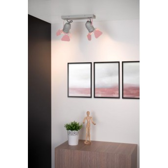 Lucide PICTO Deckenleuchte Grau, Pink, 2-flammig