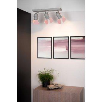 Lucide PICTO Deckenleuchte Grau, Pink, 3-flammig