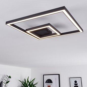 Cavareno Deckenleuchte LED Schwarz, 1-flammig