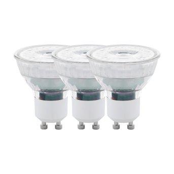 Eglo 3er Set LED GU10 4,5 Watt 2700 Kelvin 345 Lumen