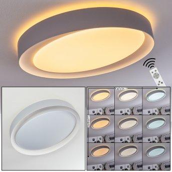 Beade Deckenleuchte LED Grau, Weiß, 1-flammig, Fernbedienung, Farbwechsler