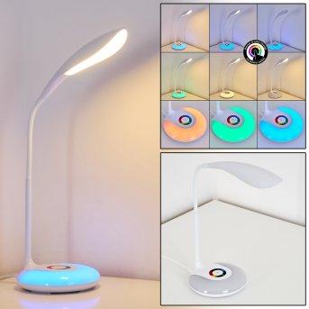 Paphos Tischleuchte LED Weiß, 1-flammig, Farbwechsler