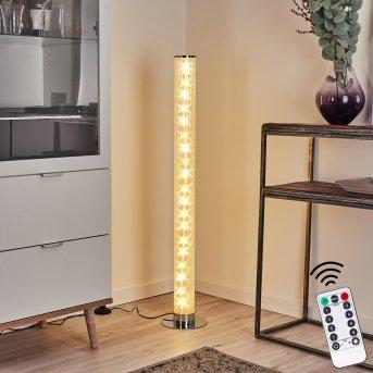 Tumurora Stehleuchte LED Chrom, 1-flammig, Fernbedienung