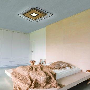 Paul Neuhaus Q-AMIRA Deckenleuchte LED Holz hell, 1-flammig, Fernbedienung