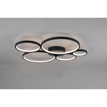 Trio Rondo Deckenleuchte LED Schwarz, 1-flammig
