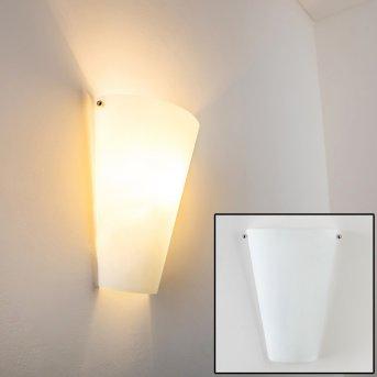 Zera Wandleuchte Aluminium, Weiß, 1-flammig