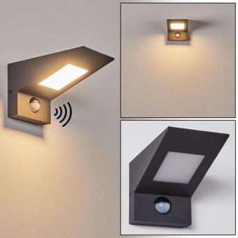 Matlava Außenwandleuchte LED Anthrazit, Weiß, 1-flammig, Bewegungsmelder