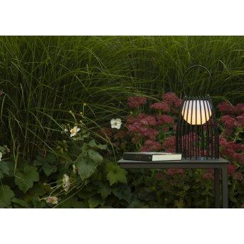 Lucide FJARA Außentischleuchte LED Schwarz, 1-flammig