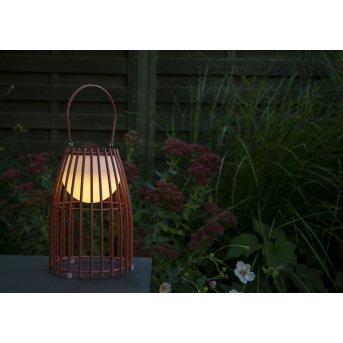 Lucide FJARA Außentischleuchte LED Rostfarben, 1-flammig