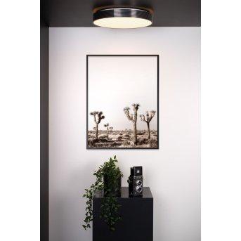 Lucide MALIN Deckenleuchte LED Schwarz, 1-flammig