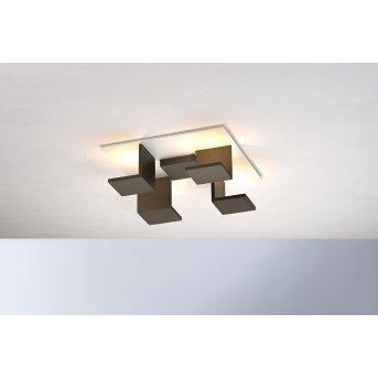 Bopp Leuchten REFLECTIONS Deckenleuchte LED Weiß, Bronze, 4-flammig