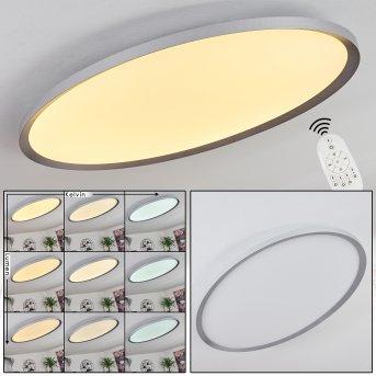 Kombito LED Panel Silber, Weiß, 1-flammig, Fernbedienung