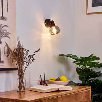 Warga Wandleuchte LED Bronze, 1-flammig