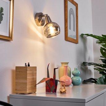 Warga Wandleuchte LED Nickel-Matt, 1-flammig