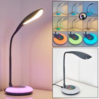 Paphos Tischleuchte LED Schwarz, 1-flammig, Farbwechsler