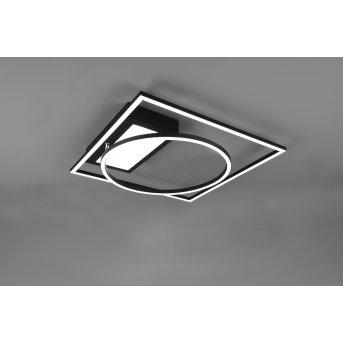 Trio Leuchten Downey Deckenleuchte LED Schwarz, 1-flammig, Fernbedienung