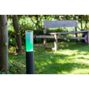 Lutec DROPA Wegeleuchte LED Anthrazit, 1-flammig, Farbwechsler