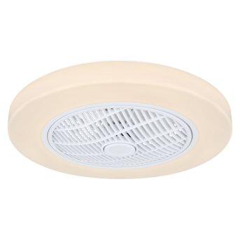 Globo JOEY Deckenventilator LED Weiß, 1-flammig, Fernbedienung