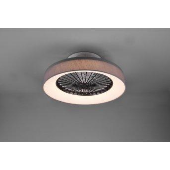 Reality Farsund Deckenventilator LED Grau, 1-flammig, Fernbedienung