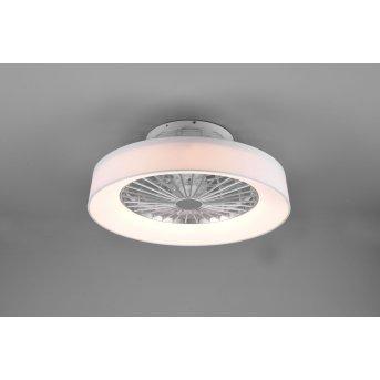 Reality Farsund Deckenventilator LED Weiß, 1-flammig, Fernbedienung
