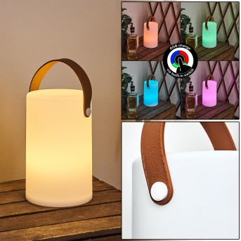 Tacuala Außentischleuchte LED Braun, Weiß, 1-flammig, Farbwechsler