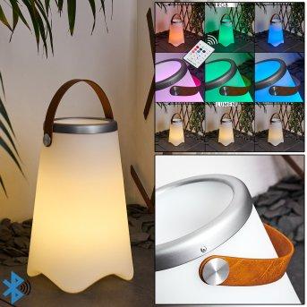 Chilar Außentischleuchte LED Braun, Weiß, 1-flammig, Fernbedienung, Farbwechsler