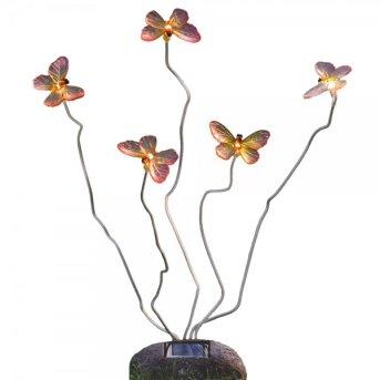 Konstsmide Schmetterling Solarleuchte LED Grau