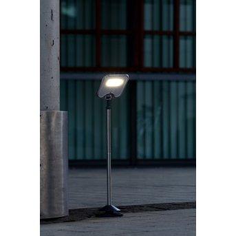 Lutec SUN CONNEC MINIS Außenwegeleuchte LED Chrom, Schwarz, 3-flammig