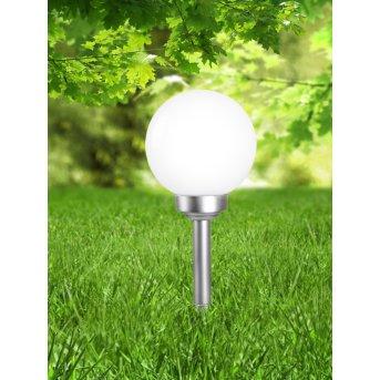 Globo Solar Kugelleuchte LED Silber, 1-flammig
