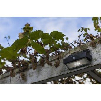 Lutec ARROW Solar-Außenwandleuchte LED Anthrazit, 1-flammig, Bewegungsmelder