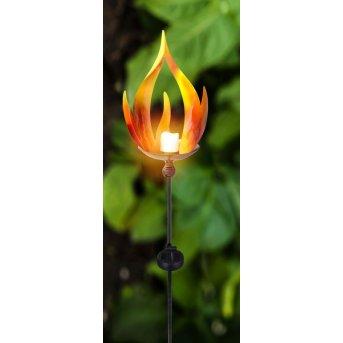 Globo LAVA Solarleuchte LED Schwarz, 10-flammig
